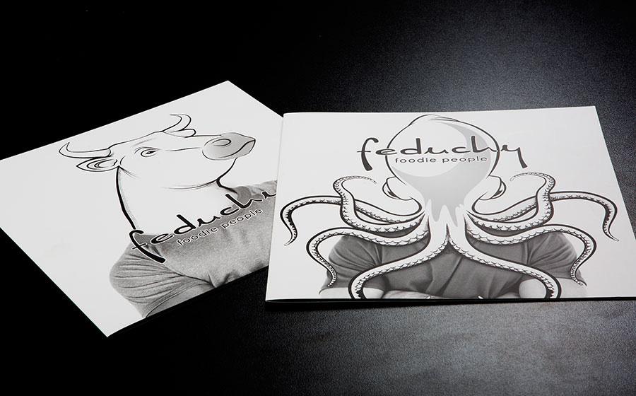 Diseño de cartas de restaurante Feduchy