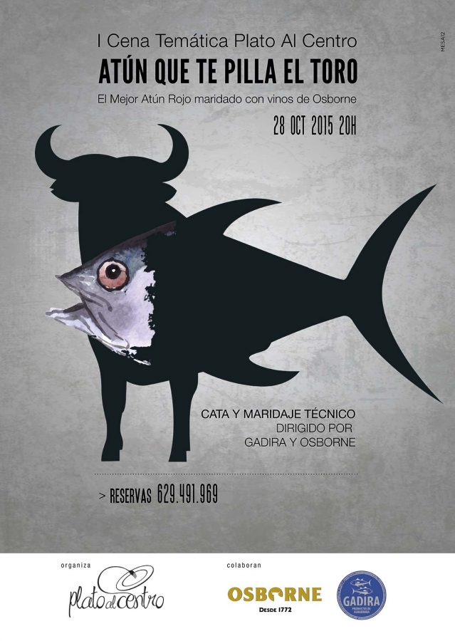 1ª Cena Temática Plato al Centro - Atún que te pilla el toro