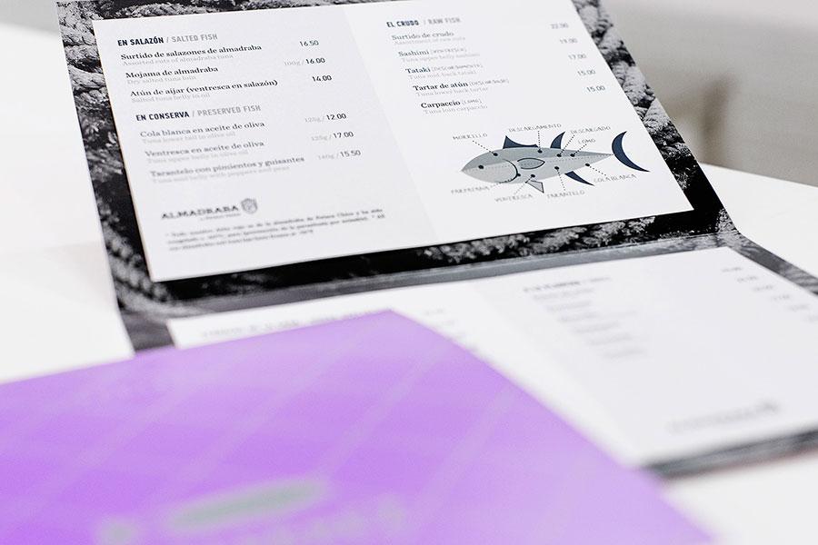 Diseño de carta de restaurante el alférez