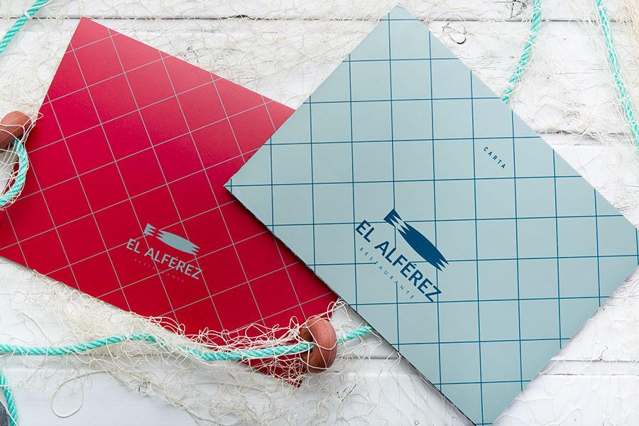 Diseño de cartas de restaurante el alférez