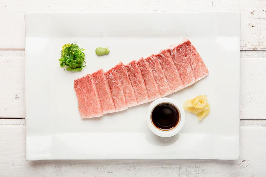 Sashimi de atún El Alférez