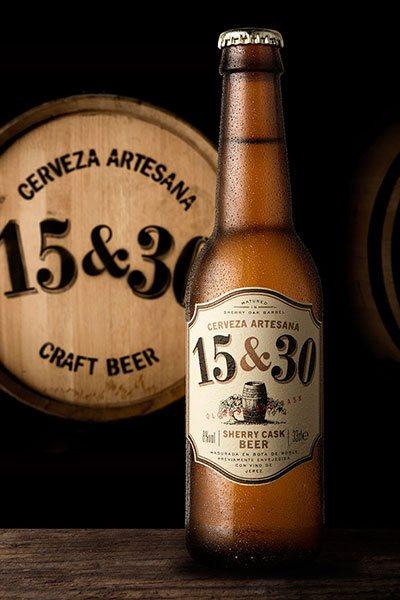 fotografía de productos cerveza 15&30