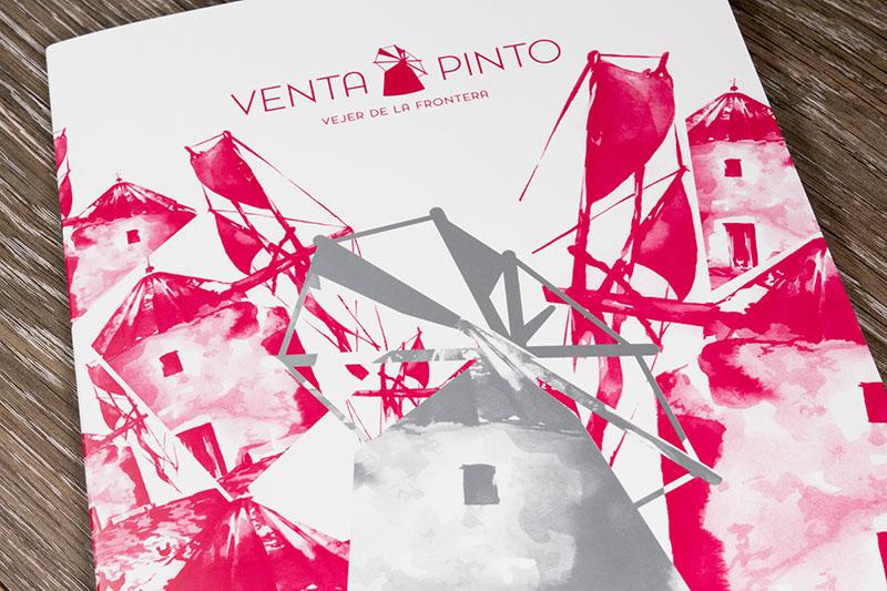 Diseño de carta restaurante venta pinto
