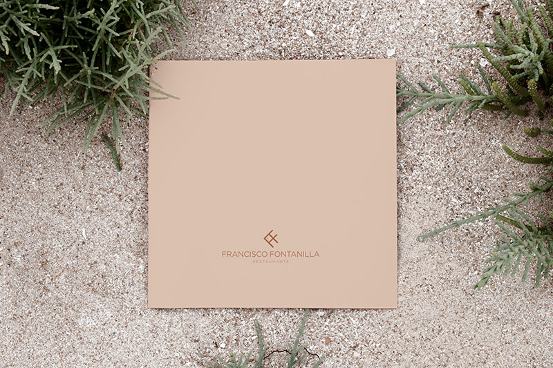 diseño de cartas restaurante Francisco Fontanilla